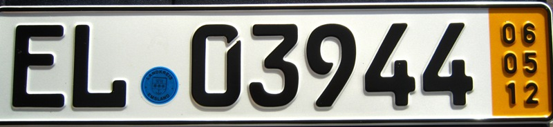 "Bron: ""Temporary German license plate Emsland"" by Dickelbers"