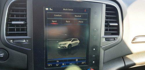 Foto beeldscherm Renault Megane RS