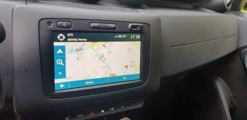 Foto navigatiesysteem Dacia Duster
