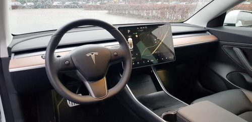 Foto interieur Tesla Model 3