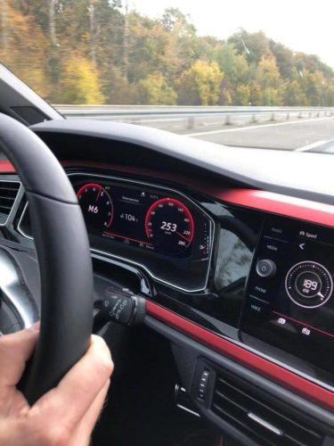 253 kilometer per uur in een Polo GTI